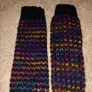 Steve Madden Multi-Colored Leg Warmers